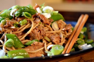 Stir-Fried Pork and Sugar Snaps with Soba Noodles by Full Fork Ahead ...