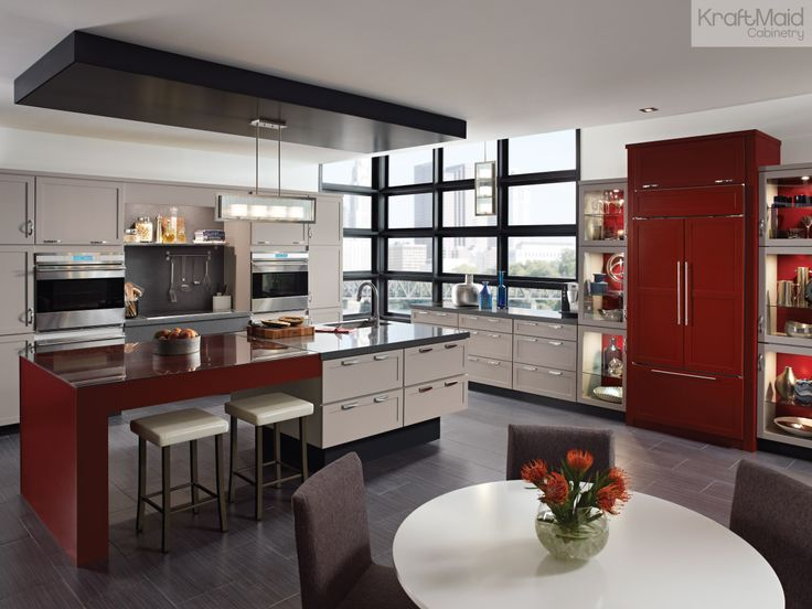 Pin by KraftMaid Cabinetry on Kitchens Contemporary & Dynamic  Pint