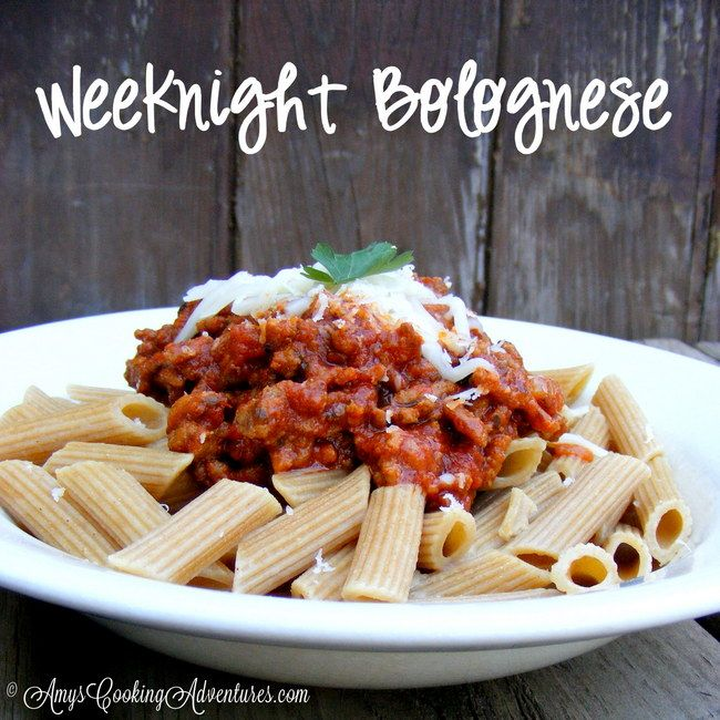 Amy's Cooking Adventures: Weeknight Bolognese: SRC