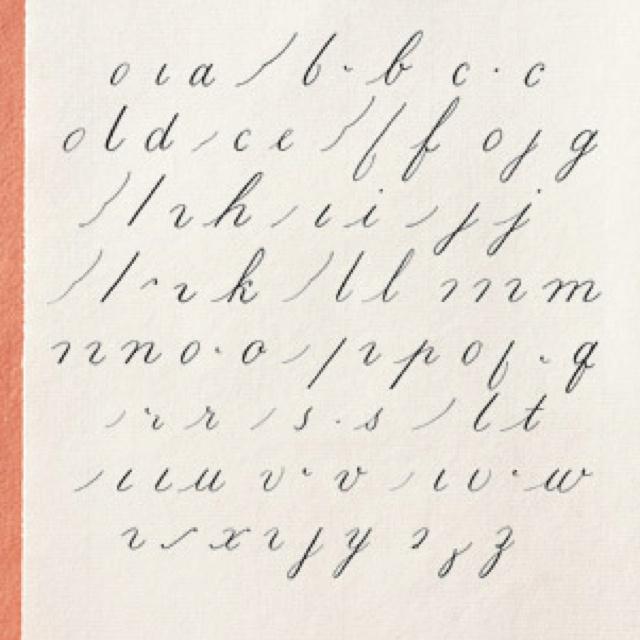 Lowercase Calligraphy Alphabet Design Typography