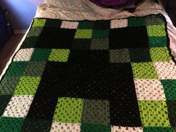 Minecraft Creeper Blanket 7500 Photo Blanket