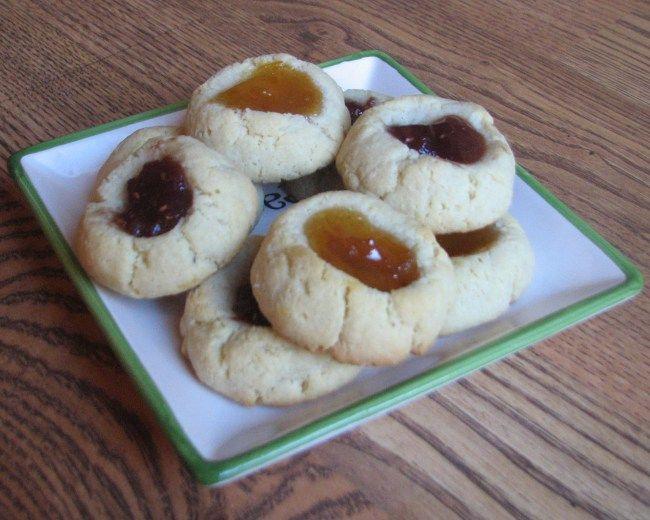 Apricot/Raspberry Shortbread (GAPS/Paleo) - Makes about 20 Cookies