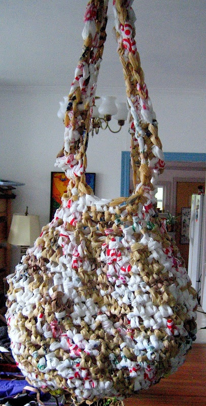 Crochet Plastic Bag Tote Pattern : Recycled Plastic Bag Tote Crochet Bags & Scarves... Pinterest