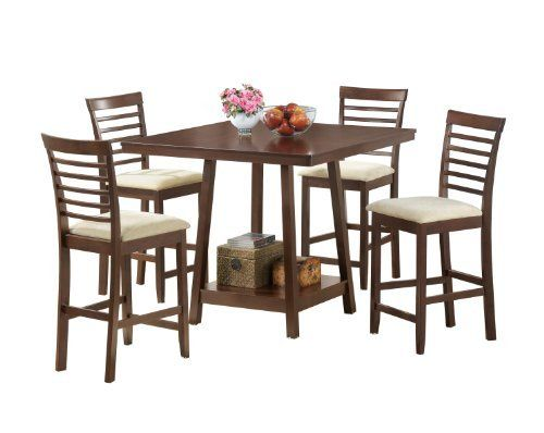contemporary tall dining set pub set 1 pub table 4 counter stools