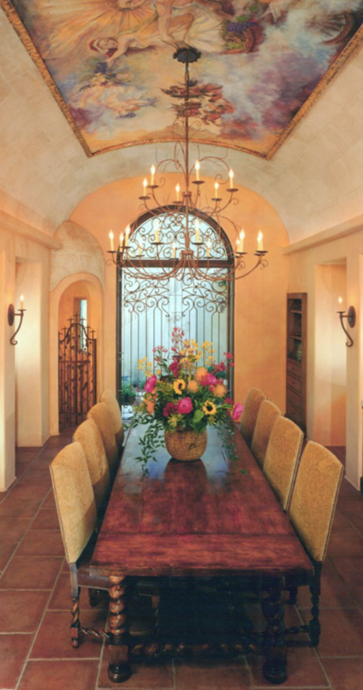1000 images about colorful ceilings on pinterest for Tuscan dining room