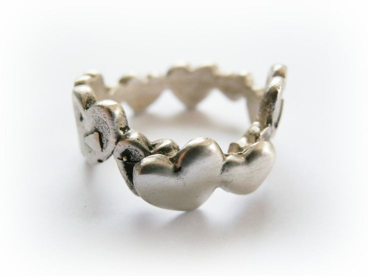 valentine ring of hearts crochet doily