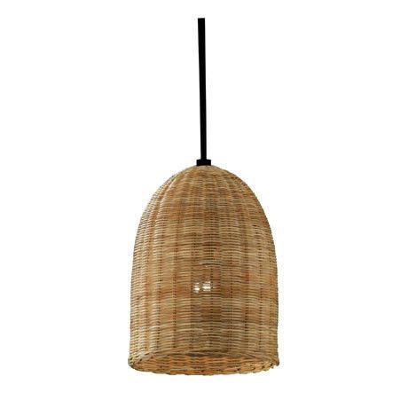 WICKER PENDANT LIGHT Wicker Bell