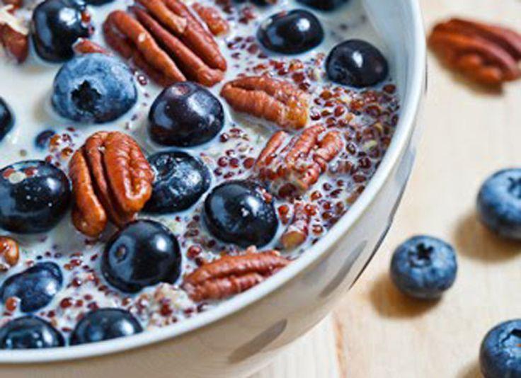 Quinoa Porridge With Blueberries And Pecans @Jacy Garner I know you ...
