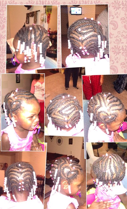 cornrows with beads | Jami's Braid Designz and Dreads | Pinterest