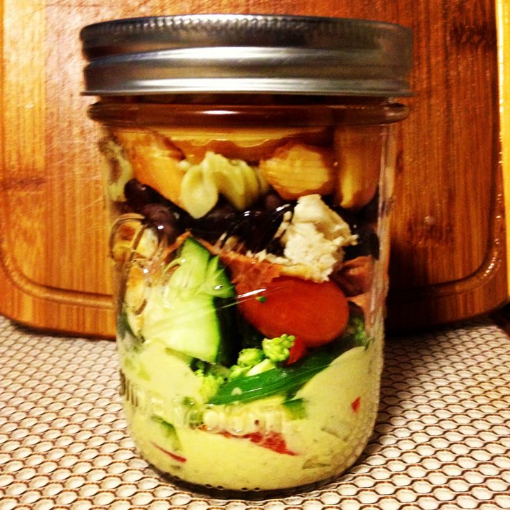 Lunch-Pasta Salad: Layer from too to bottom: avocado ranch dressing ...