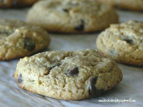 Almond Butter Chocolate Chip Cookies | savory or sweet: snacks and tr ...