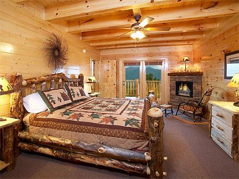 Cabin Master Bedroom Home