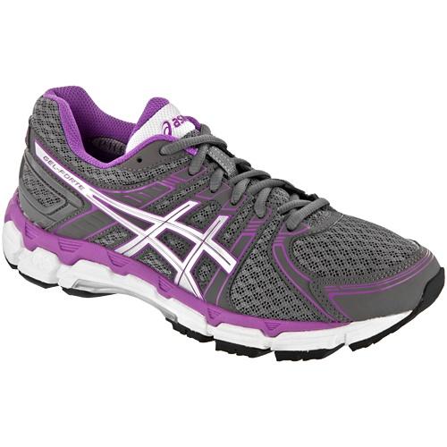 asics gel forte womens shoes grey/purple
