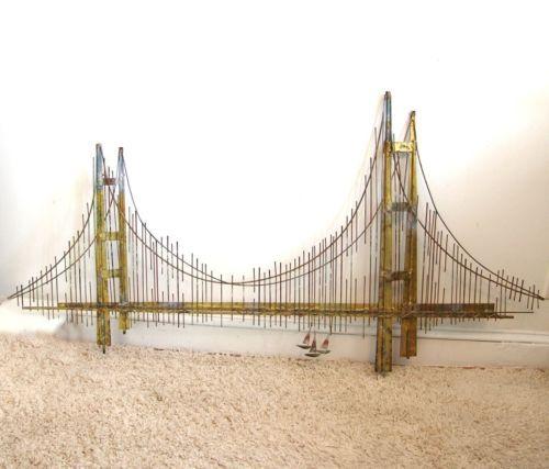 golden gate bridge c curtis jere wall hanging art mid. Black Bedroom Furniture Sets. Home Design Ideas