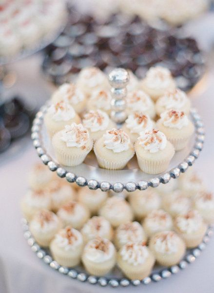 White cupcakes  - picture perfect!