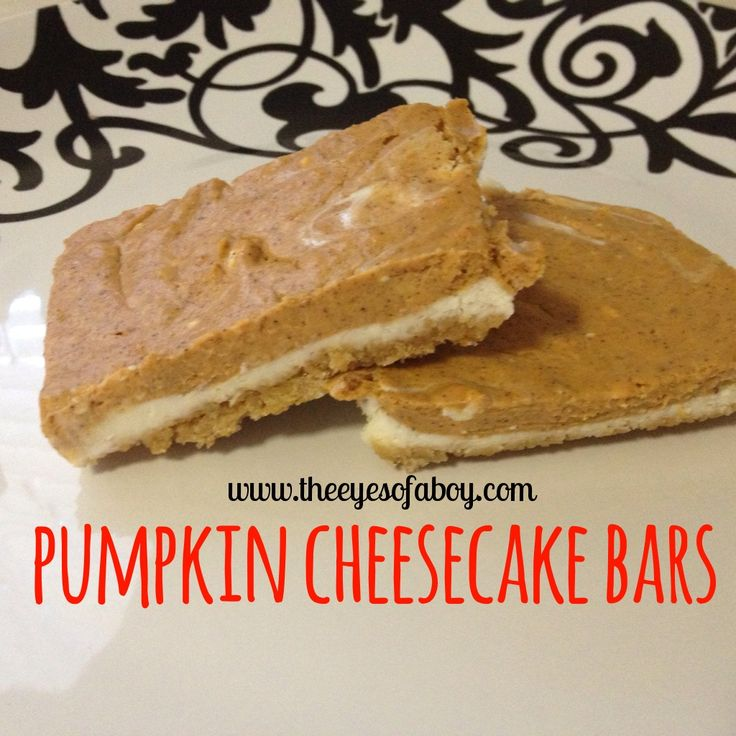 yessss pumpkin cheesecake bars | Recipes to try | Pinterest