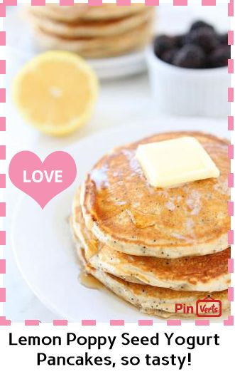 Lemon Poppy Seed Yogurt Pancakes... 1. In a large bowl, whisk together ...