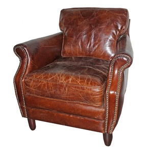 Leeds Leather Chair now featured on Fab.