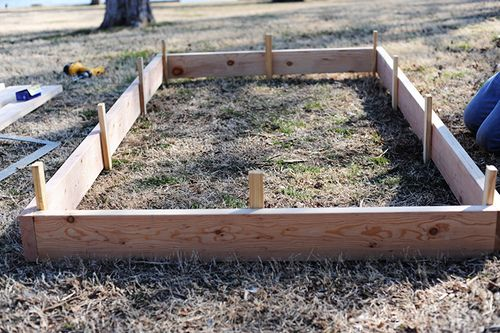 How To Build Your Own Raised Bed Gardening Pinterest
