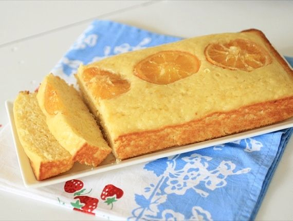 Orange yogurt cake (made with just 1/2 cup sugar and non-fat greek ...