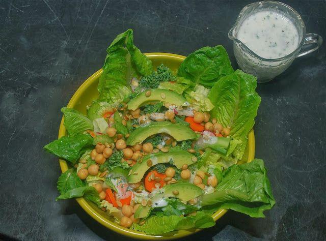 Tomatoes on the Vine: Winter Salad with Lemon Yogurt Dressing