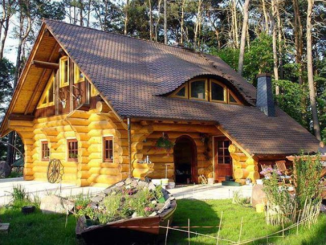 log cabin in the woods cabins cabin decor pinterest. Black Bedroom Furniture Sets. Home Design Ideas