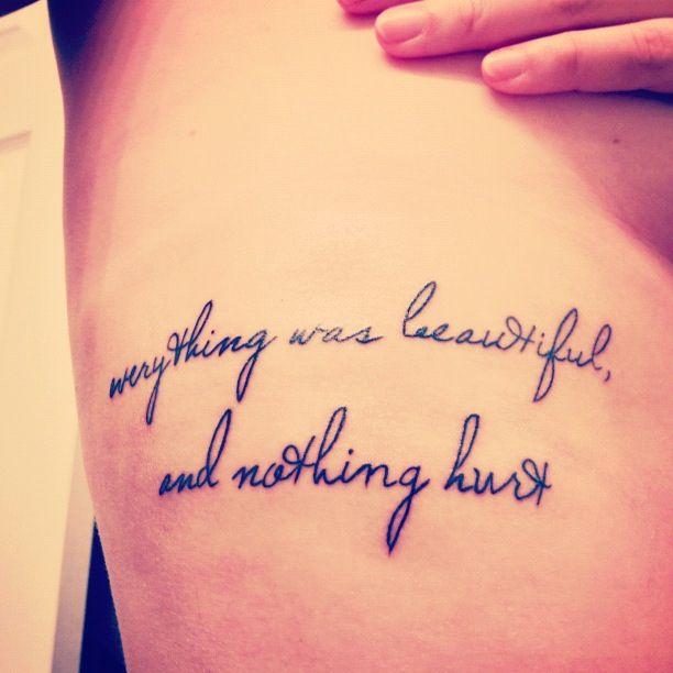 Literary Rib Cage Tattoo. Kurt Vonnegut, Slaughter House