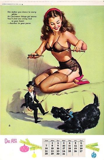 Pin Up Gallery - Alberto Vargas 1952 Calendar Pic