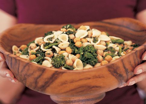 Orecchiette with Broccoli Rabe and Fried Chickpeas, from bon appetit