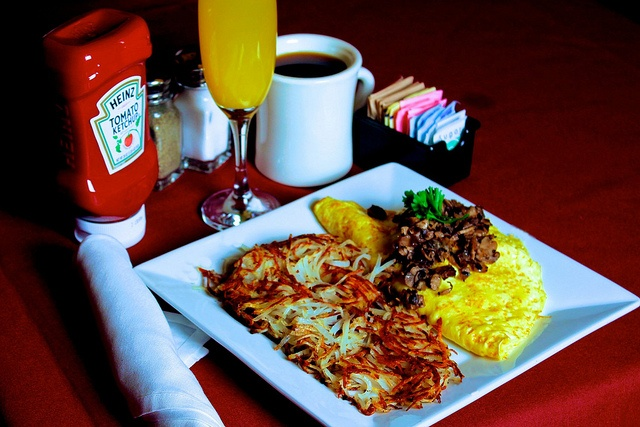 Lucky's Sinatra Omelet is stuffed with melted fontina cheese, smoked ...
