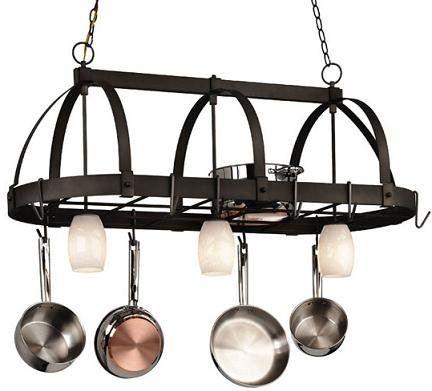 Kitchen Pot Hanger With Lights Millennium Lighting 523 Bg 3 Light Island Pot Rack Shop Cale 16