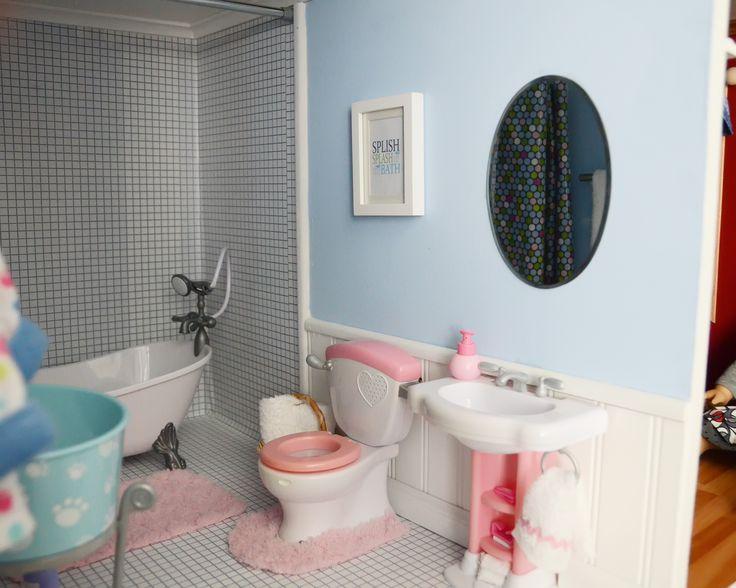 American Girl Bathroom AG Doll Rooms Pinterest
