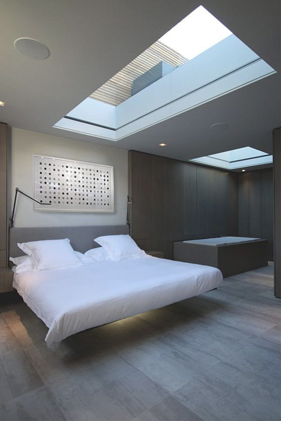 1000 images about modern skylight on pinterest for Bedroom skylight