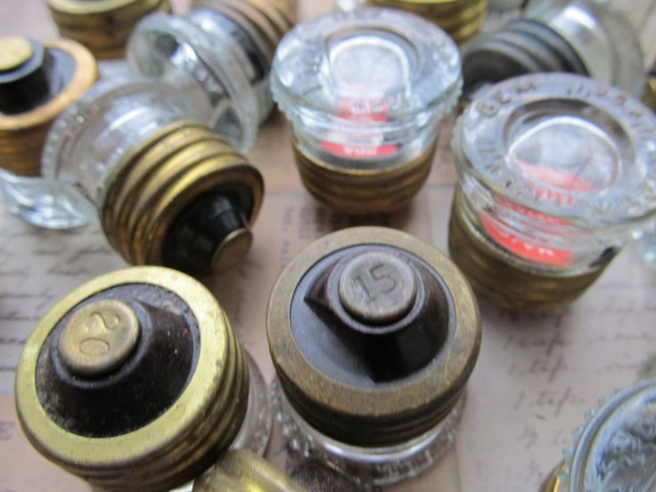 glass fuses~ used before                   current circuit breakers