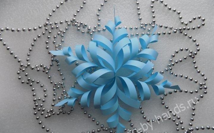Бумажные снежинки своими руками мастер класс