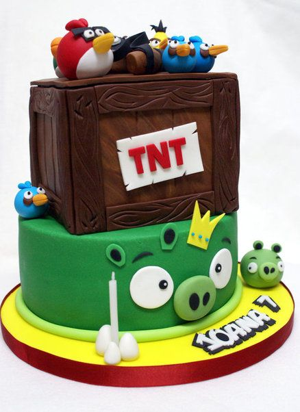Pin by maya bassan on cakes angry birds pinterest for Angry birds cake decoration