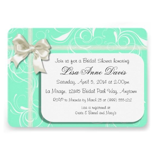 Mint Green #Bridal #Shower #Invitations