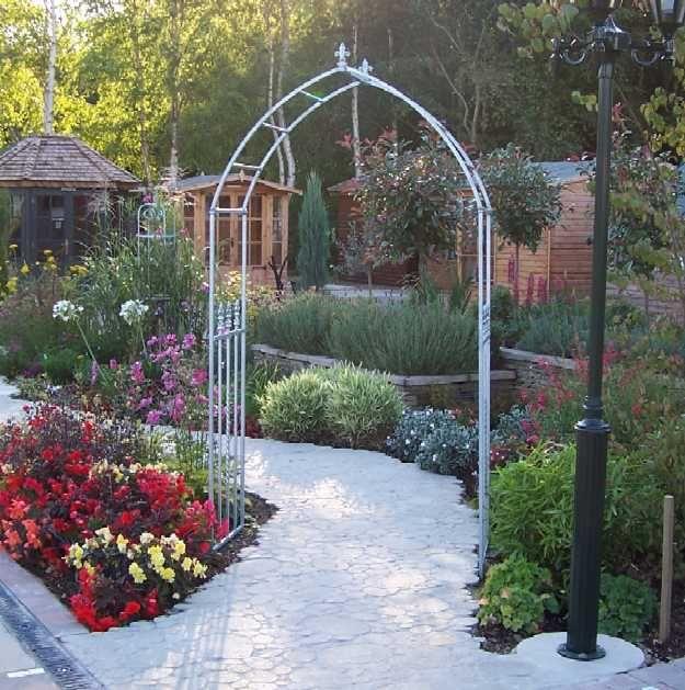 Gothic garden rose arch garden pinterest for Garden arches