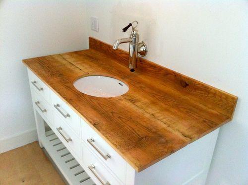 wood vanity top bathroom