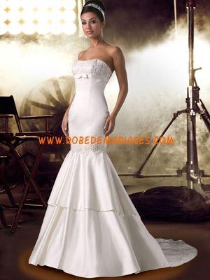 Robe de mariée sirène satin broderies  Robes de mariée  Pinterest
