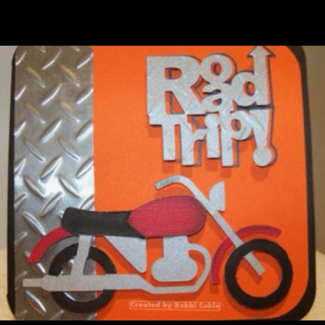 Harley birthday card outside cricut designs by bobbi pinterest
