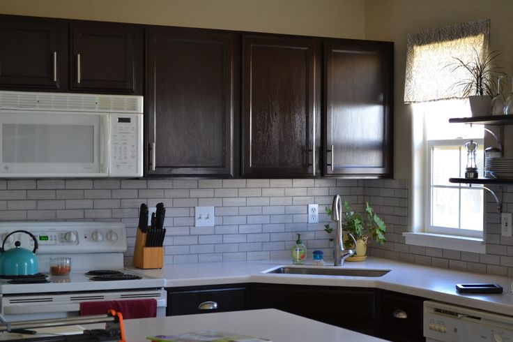 diy install a tile backsplash i 39 d like the tiles to be a steel gray