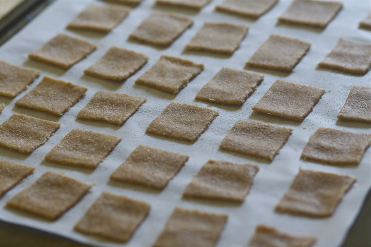 Homemade Wheat Thins | The Baker Chick | Food for Thought | Pinterest