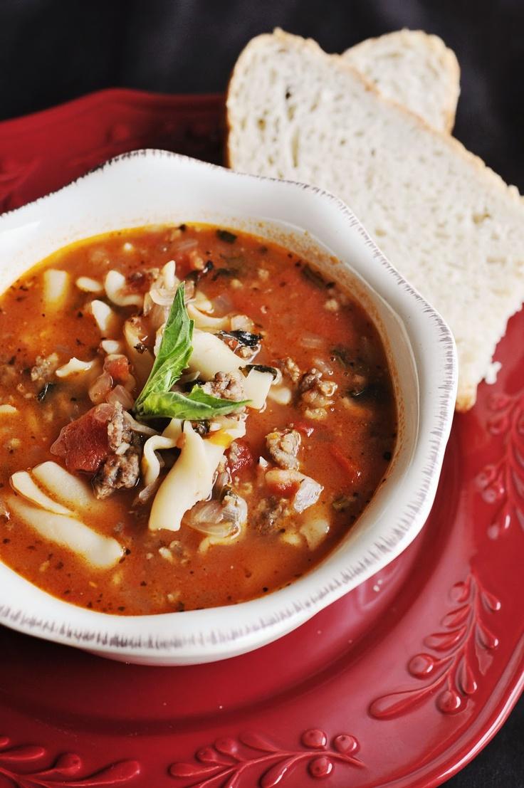 Lasagna Soup | Soups & Starters | Pinterest