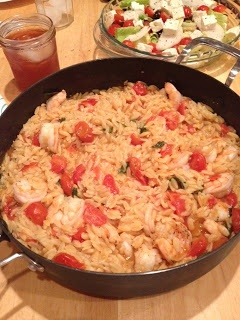 Skillet Shrimp and Orzo. | food | Pinterest