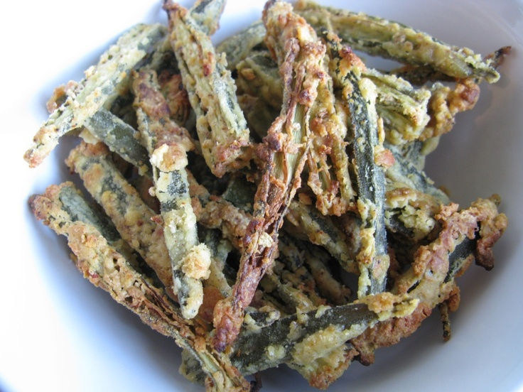 okra fries! | Appetizers | Pinterest