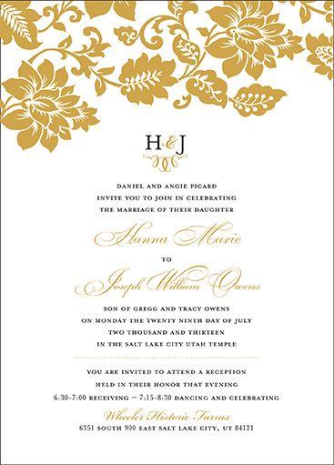 wedding invitations utah lds wedding invitations utah wedding