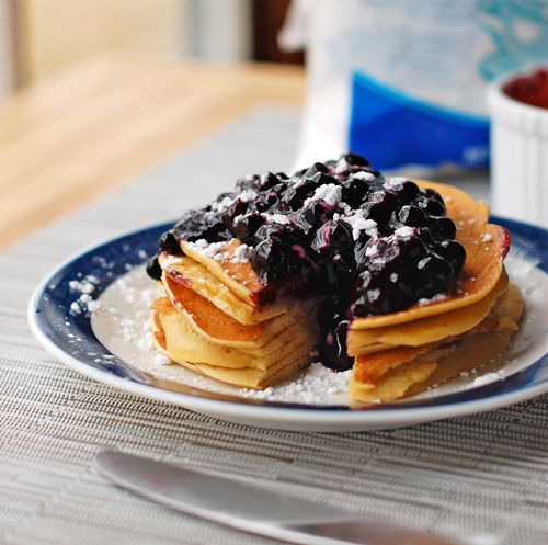 Easy Homemade Blueberry Sauce- great topping for pancakes/waffles or ...