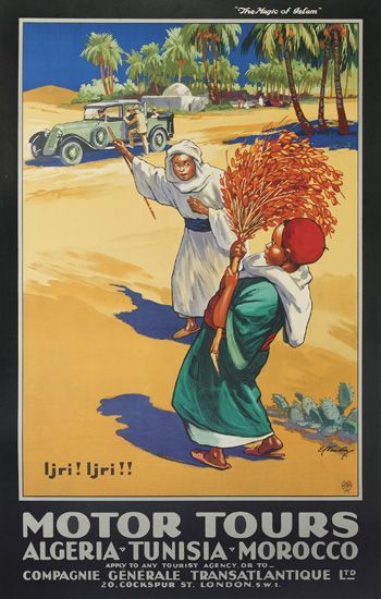 E. V. Kealey, Motor Tours/Algeria-Tunisia-Morocco. Circa 1925.