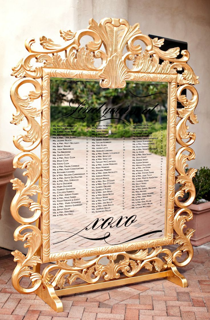 Seating Chart Mirror I Thee Wed Ideas Pinterest